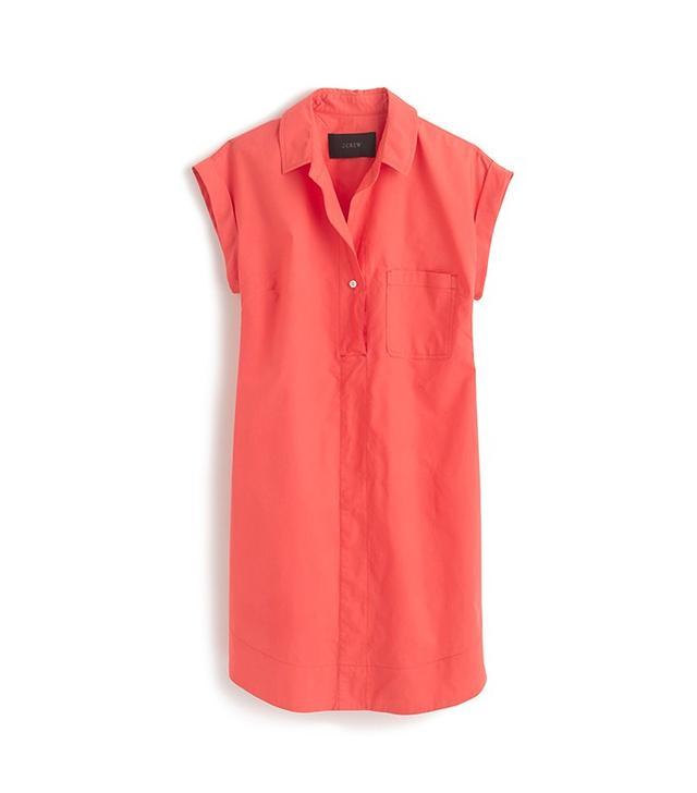 J.Crew Short-Sleeve Cotton Shirtdress