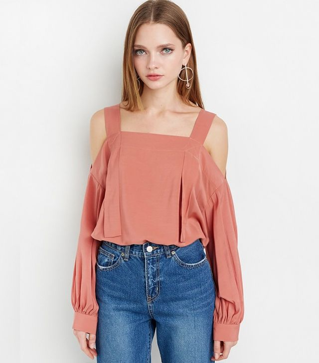 Pixie Market Strappy Off the Shoulder Top