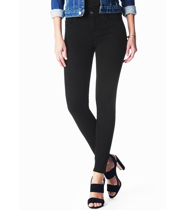 7 for All Mankind B(air) Denim Ankle Skinny in Black
