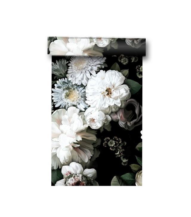 Ellie Cashman Dark Floral Wallpaper