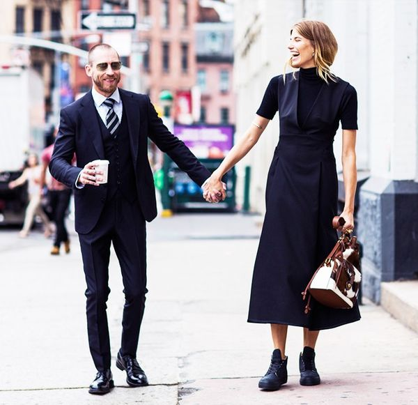 Midi Dress + Sneakers