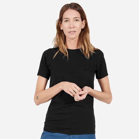 Women's Cotton Crew T-Shirt in Black