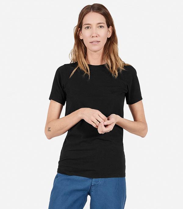 Women's Cotton Crew T-Shirt by Everlane in Black, Size XXS