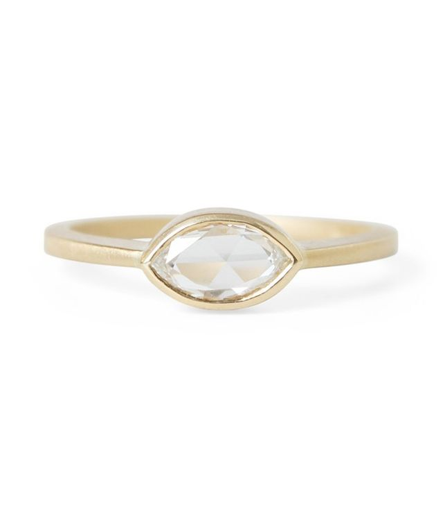Gillian Conroy Rose Cut Marquise Diamond Ring