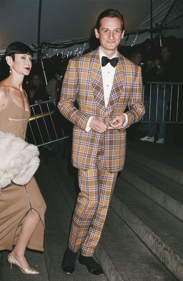 We'd be curious to know if Hamish Bowles still owns this fabulous tartan suit.