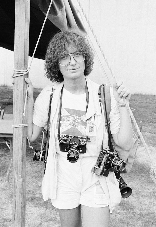 Annie Leibovitz at a Rolling Stones tour in 1975.
