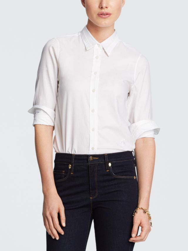 Draper James Elliot Shirt in White