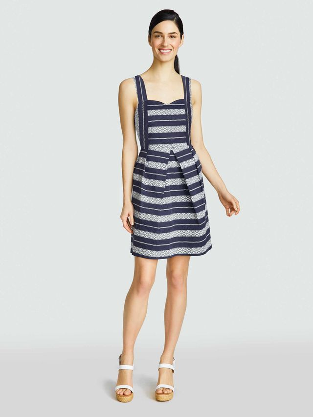 Draper James Lacey Stripe Sweetheart Dress