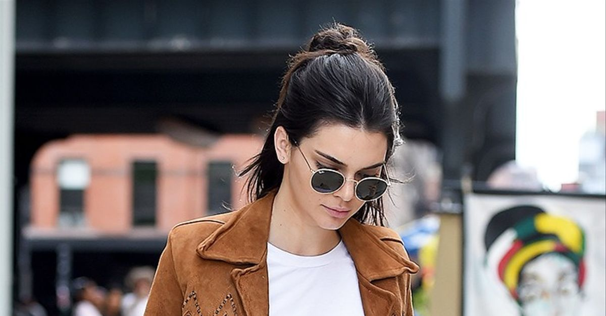 boots givenchy glasses f7bo  Kendall Jenner Already Wore THE Big Fall Ankle Boot Trend  WhoWhatWear