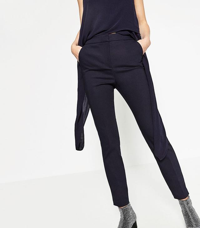 Zara High Waist Skinny Trousers