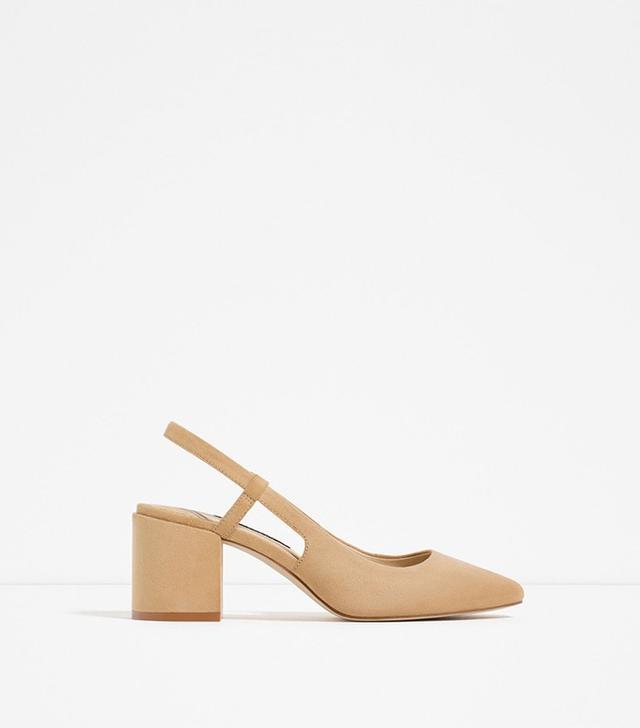 Zara High Heel Slingback Shoes