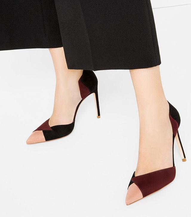 Zara Contrast High Heel Shoes