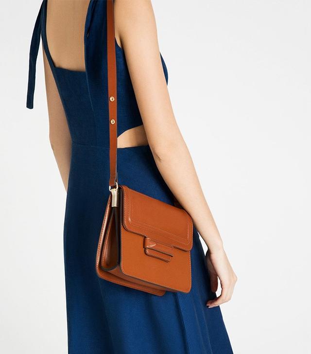 Zara Foldover Flap Crossbody Bag