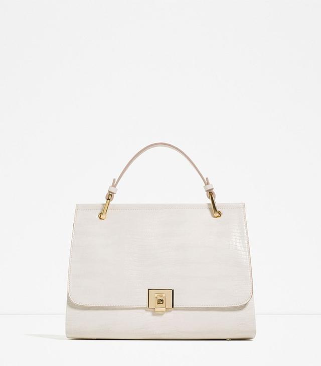 Zara City Bag With Fastening Detail