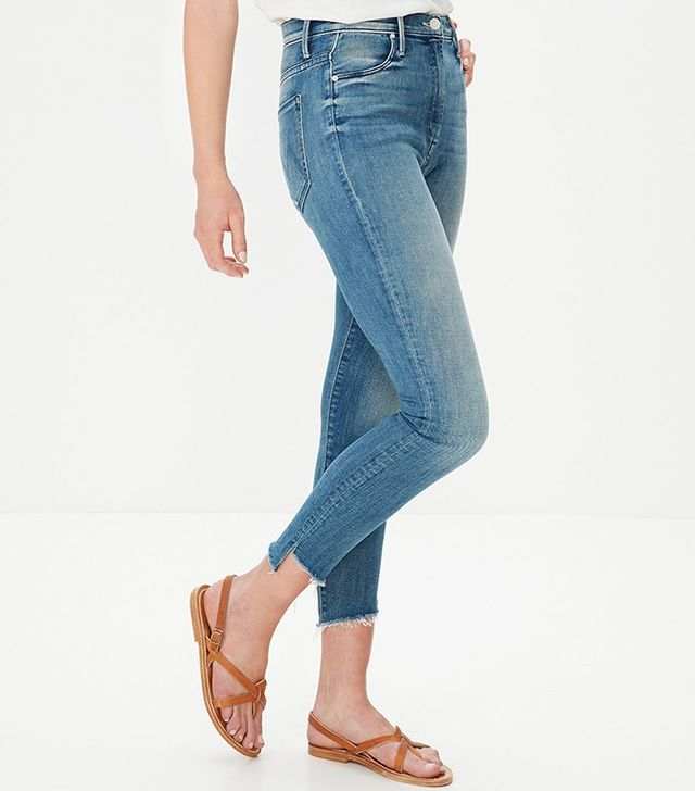 Mother Stunner Zip Ankle Step Fray Jeans