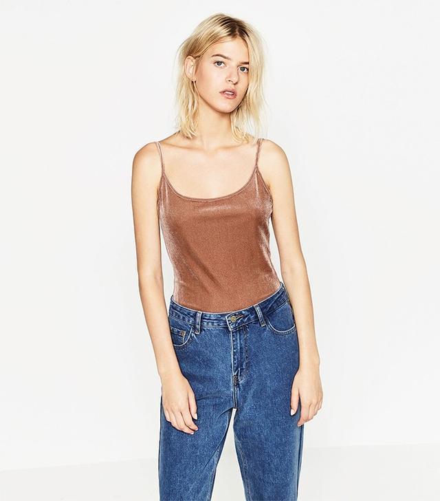 Zara Velvet Bodysuit