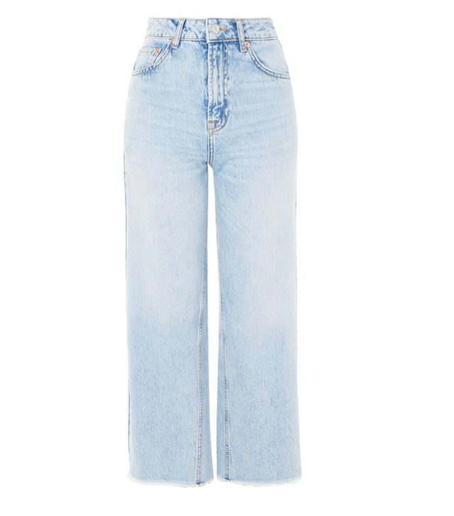 What Not To Wear When It's Boiling Hot: Moto Bleach Cropped Wide Leg jeans