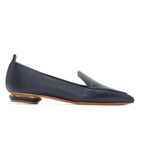 Beta Leather Point-Toe Flats