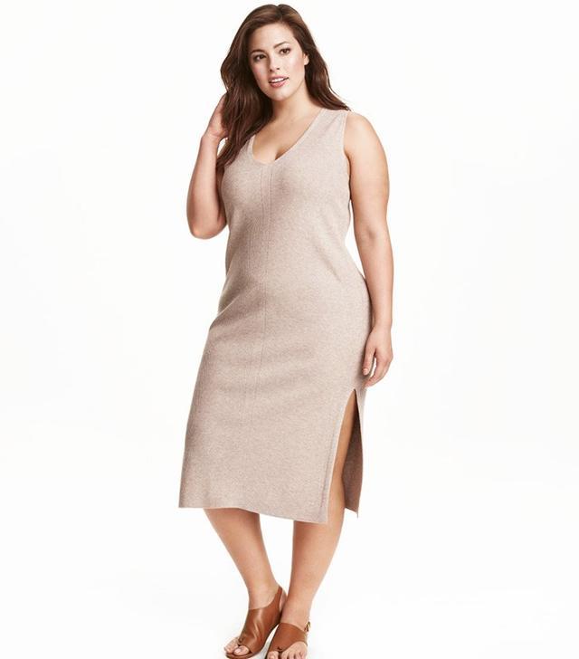 H&M+ Rib-Knit Dress