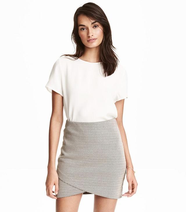 H&M Textured Wrap Skirt