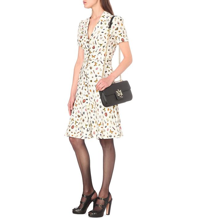 Alexander McQueen Obsession-Print Crepe Dress