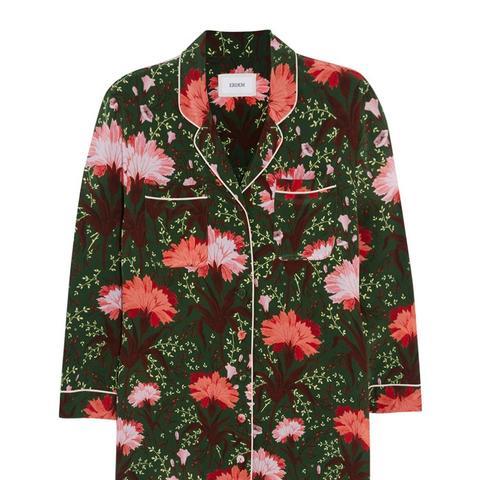 Ray Floral-Print Silk-Satin Blouse