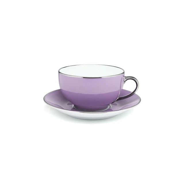 Limogues Platinum Breakfast Cup & Saucer Parma