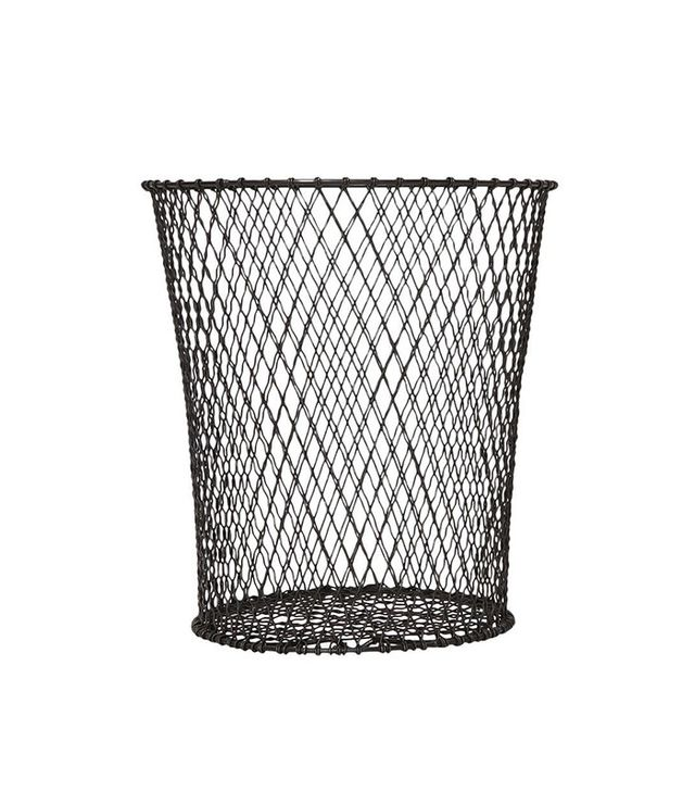 1stdibs Woven Wire Waste Paper Basket
