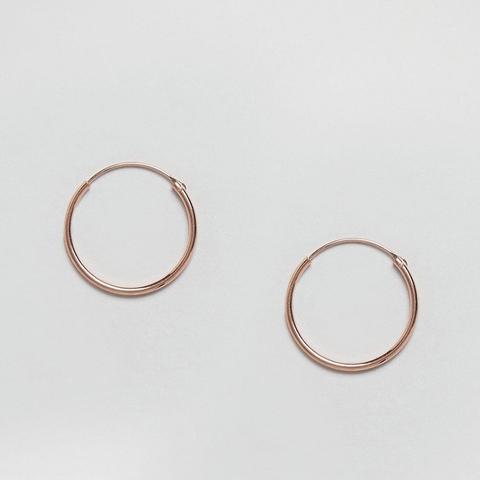 Rose Gold Plated 20MM Hoop Earrings