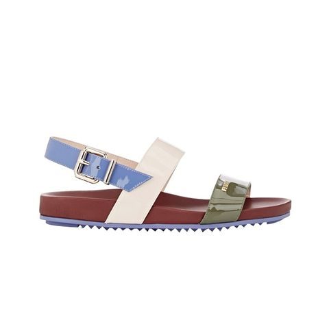 Colorblocked Double-Band Sandals