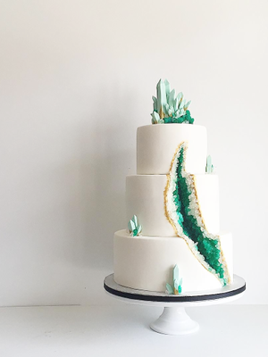 These Stunning Geode Wedding Cakes Are Blowing Up on Instagram