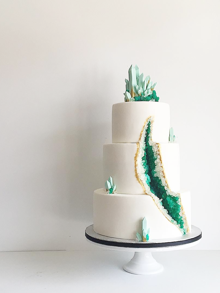 These Stunning Geode Wedding Cakes Are Blowing Up On