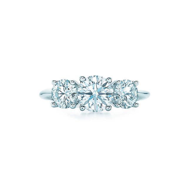 Tiffany & Co. Round Brilliant Three Stone Engagement Ring