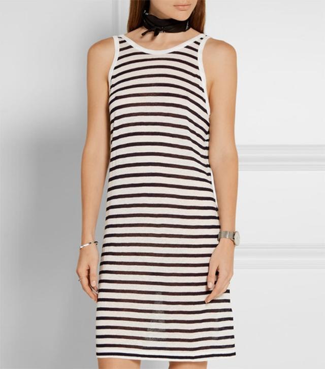 T by Alexander Wang Striped Jersey Dress