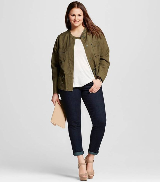 Who What Wear Plus Size Modern Utility Jacket