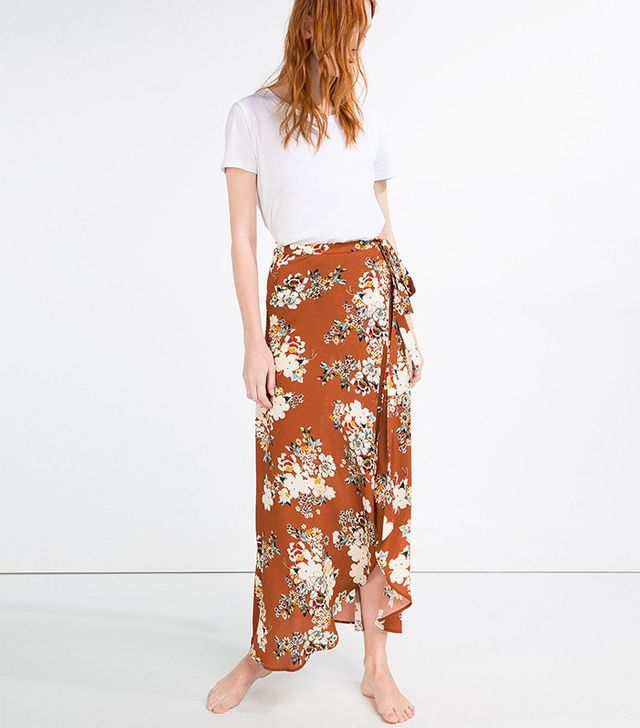 Zara Long Wrap Skirt
