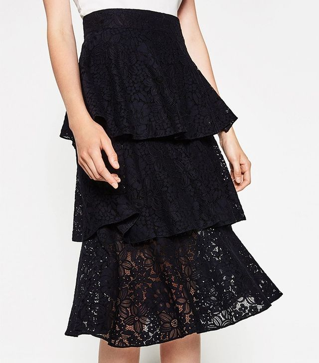 Zara Frilled Lace Skirt