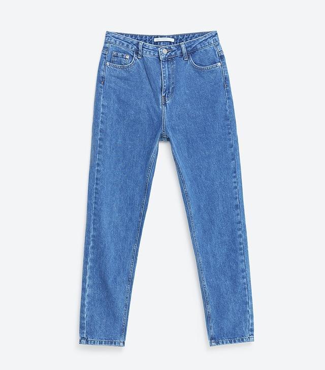 Zara Faded Mom Fit Jeans