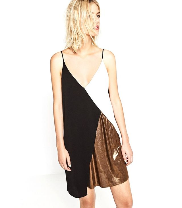 Zara Block Colour Metallic Dress