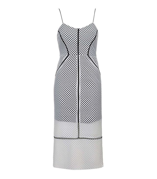 Topshop Airtex Column Midi Dress