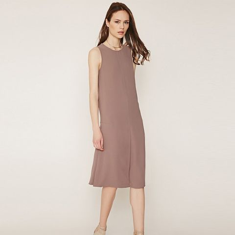 Contemporary Inverted-Pleat Shift Dress