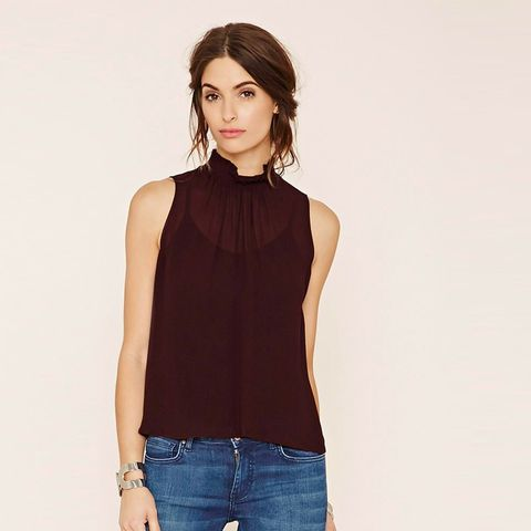 Contemporary Mock-Neck Top