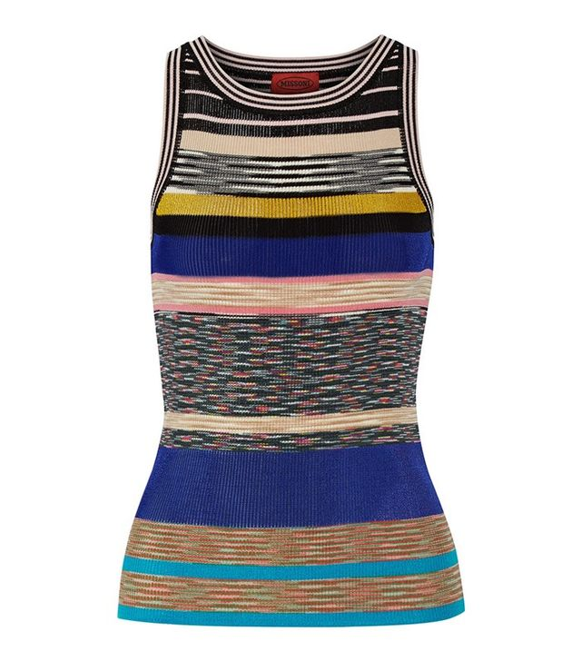 Missoni Striped Crochet Knit Tank