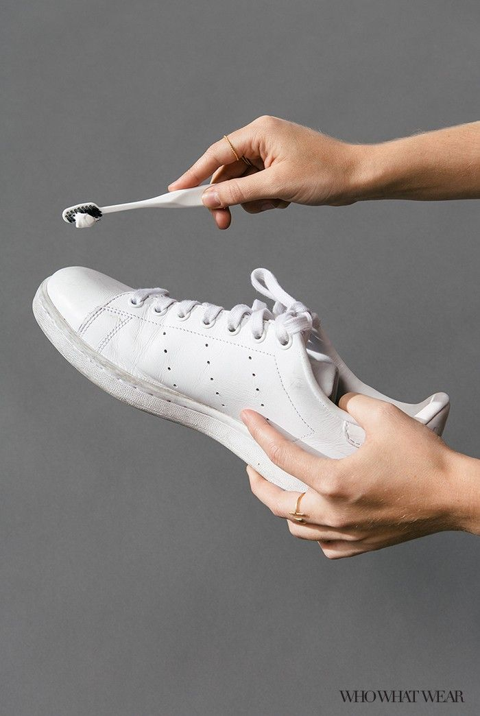 How to Clean White Sneakers   Who What Wear