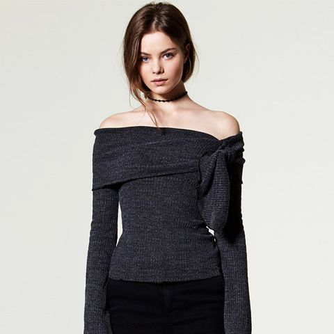 Aina Ribbed Off-The-Shoulder Top