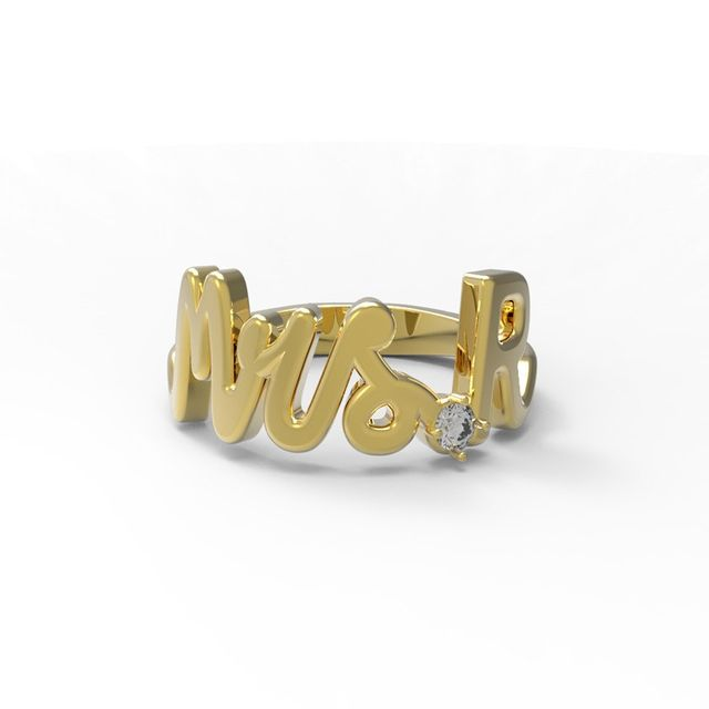 Alison Lou Customized Mrs. R Ring