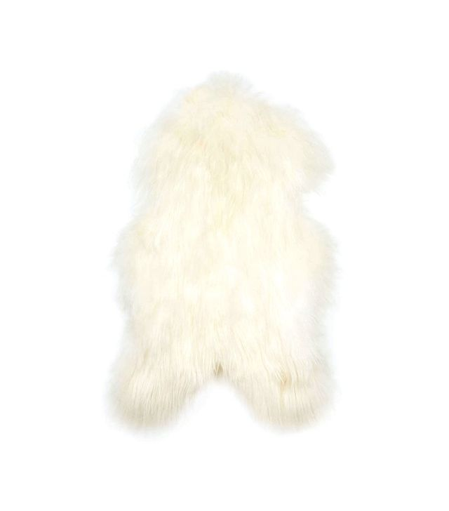 Black Sheep Natural White Icelandic Sheepskin