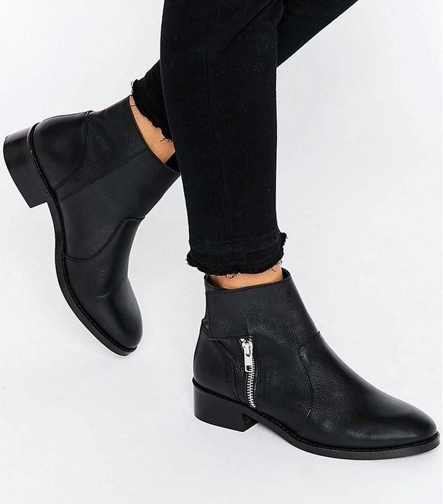 ASOS Amplify Leather Biker Boots