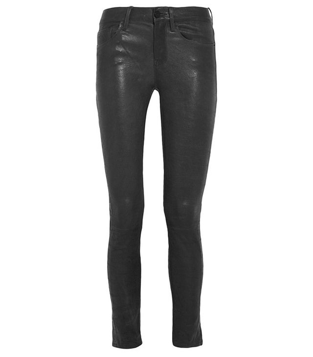 Frame Le Skinny Stretch Leather Pants