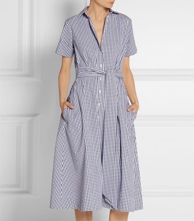 Lisa Marie Fernandez Gingham Shirt Dress
